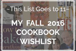 Fall 2017 Cookbook Wishlist