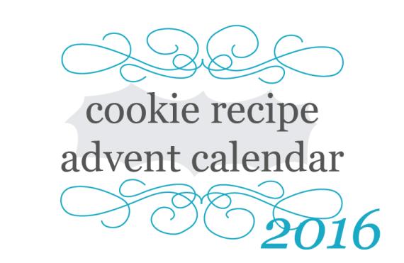 2016 Cookie Recipe Advent Calendar