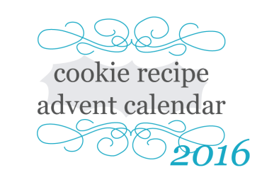 2016 Cookie Recipe Advent Calendar