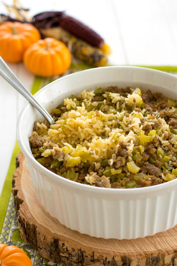 Rice Dressing   Kitchen Gidget Try this easy rice dressing recipe baked with the traditional flavors of  bread stuffing  Great