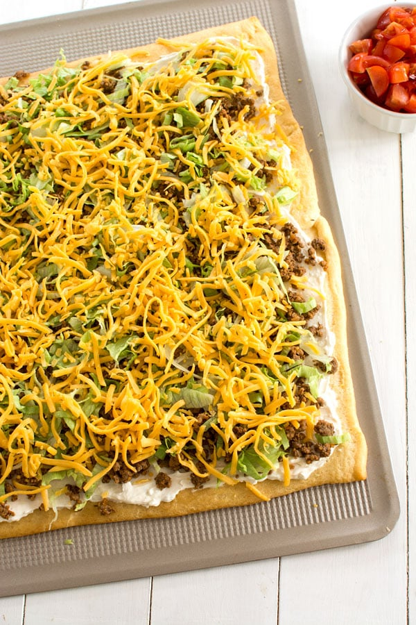 Crescent Roll Taco Pizza Recipe
