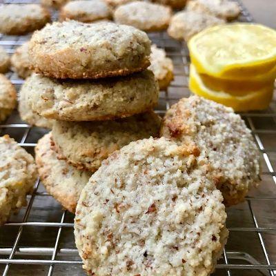 Lemon Almond Wine Cookies