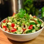 Spicy Cucumber Tomato and Water Chestnut Salad