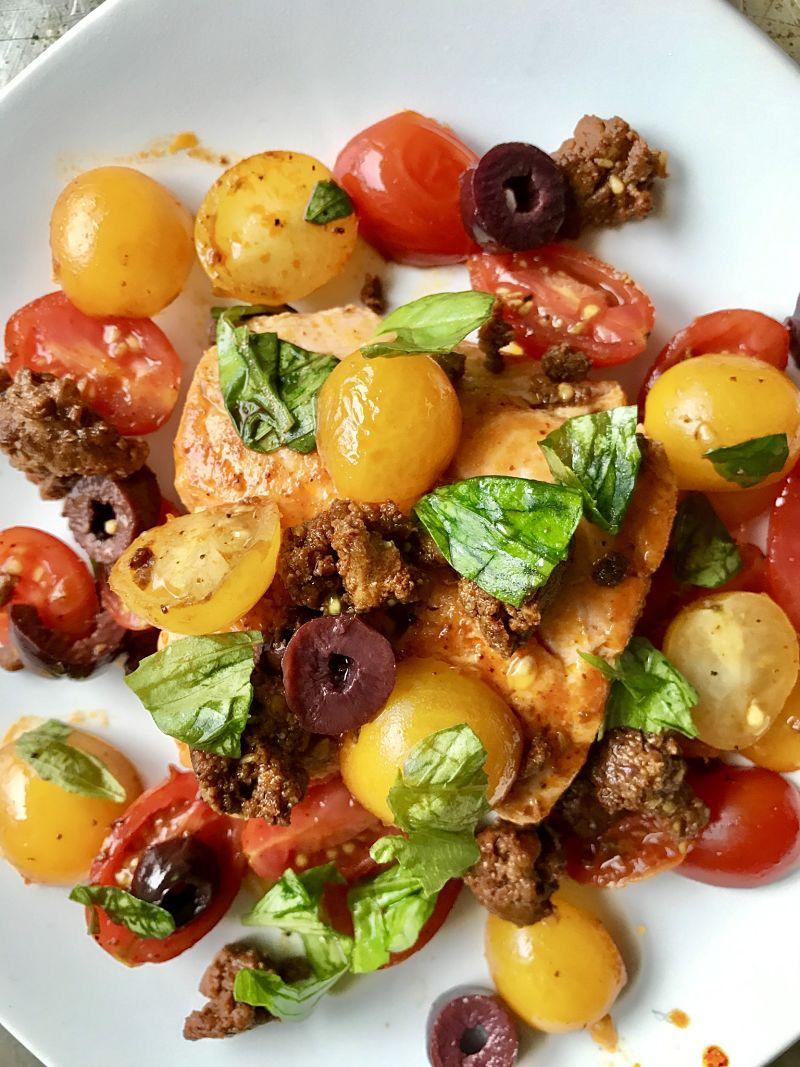 Tomato Chorizo Salmon