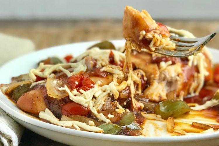 Easy Vegetable Baked BBQ Chicken