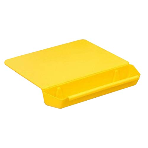 Extra Thick Flexible Plastic Kitchen Cutting Board Set Easy-Grip Handles BPA-Free Non-Porous Dishwasher Safe Colored Mats with Vegetable Trough Two-in-One Cutting Board for Kitchen Yellow