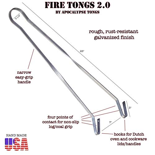 Apocalypse Tongs Fire Tongs 20 Fire Pit Tongs Campfire Tongs Charcoal Tongs Fireplace Tongs Dutch Oven Cooking Tools