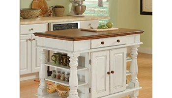 Home Styles 5009-94 Monarch Granite Top Kitchen Island, Black and ...
