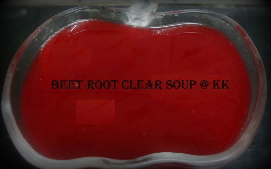 Beet Root Clear Soup