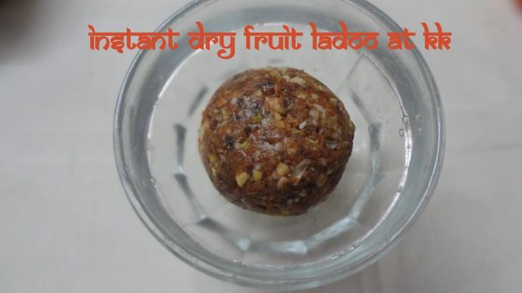 instant dry fruit ladoo