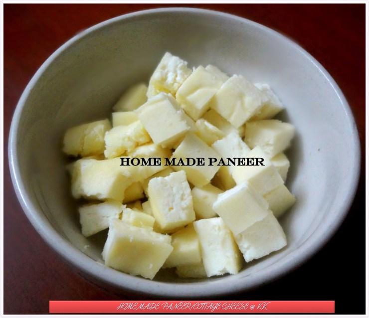 home made paneer