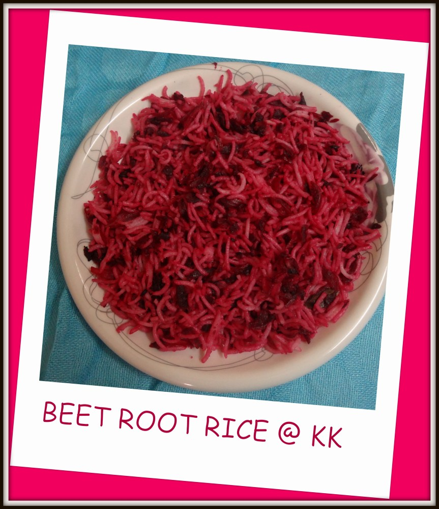 Beet root Rice|BeetRoot Pulao