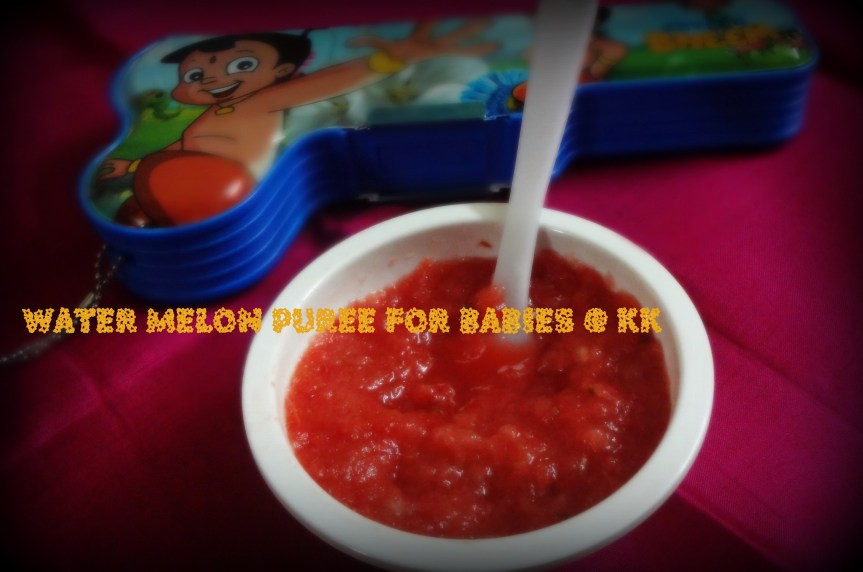WATERMELON PUREE FOR BABIES