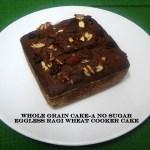 whole grain eggless cooker cake