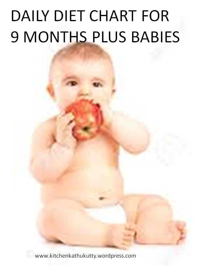 9 months plus baby diet chart