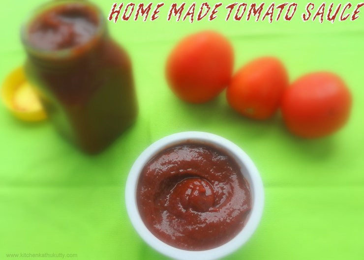 home made tomato sauce with no added preservatives