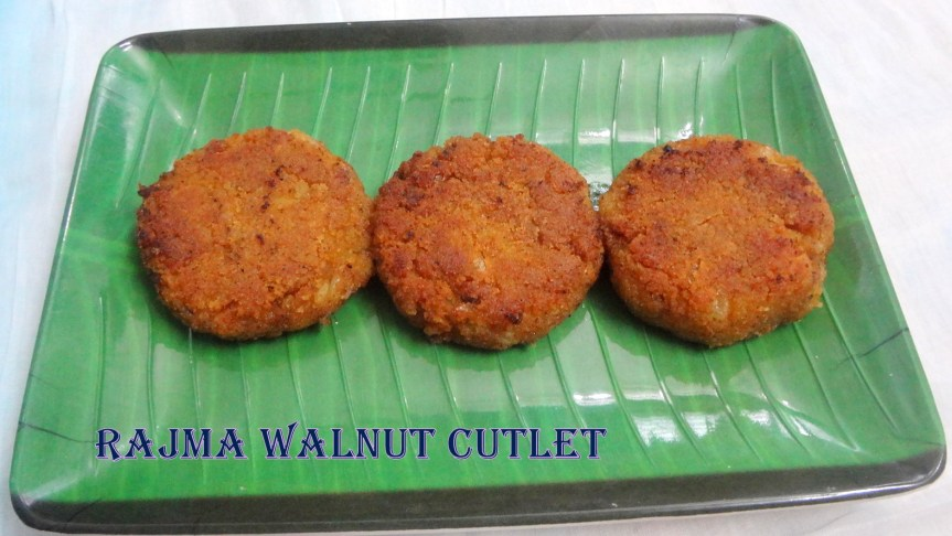 RAJMA WALNUT CHEESE CUTLETS/TIKKIS