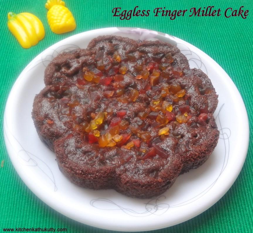 Eggless Ragi Choco Chip Cake |Eggless Finger Millet Cake