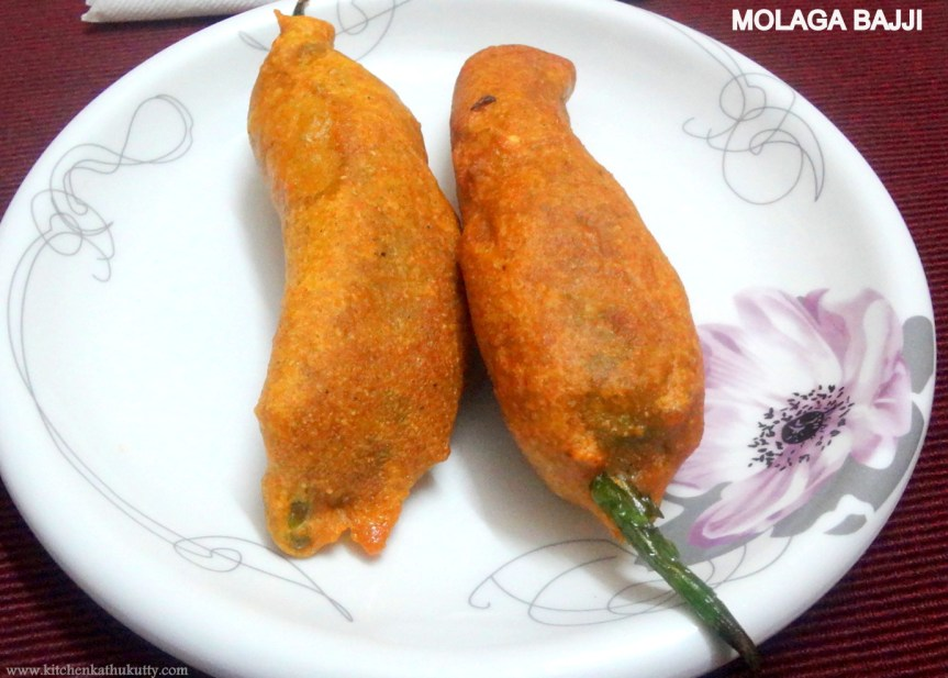 Molaga Bajji |Chilly Bajji |Mirchi Fritters with Amaranth flour