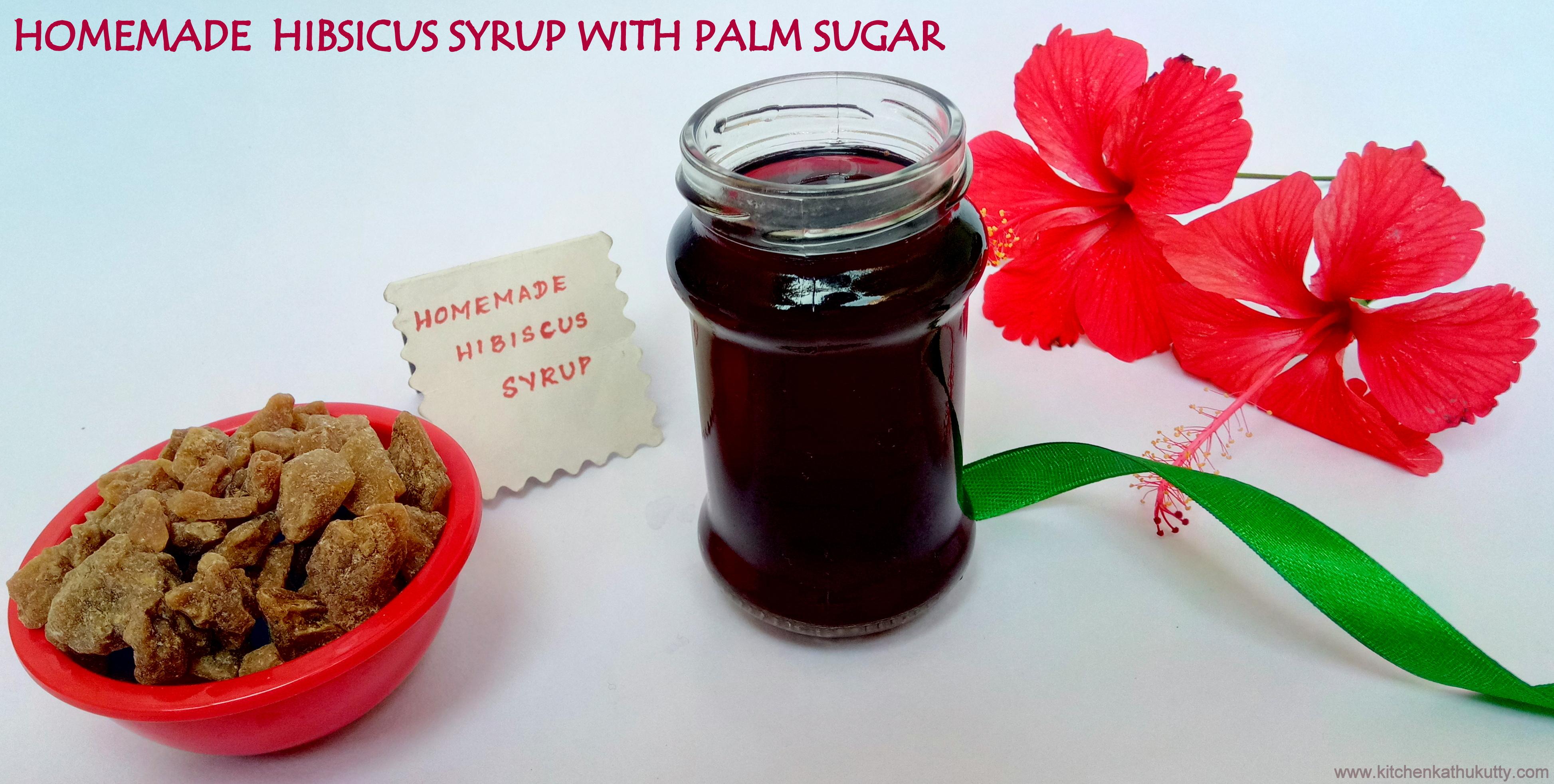 Hibiscus Syrup Recipehibiscus Sharbatchembaruthi Sherbert