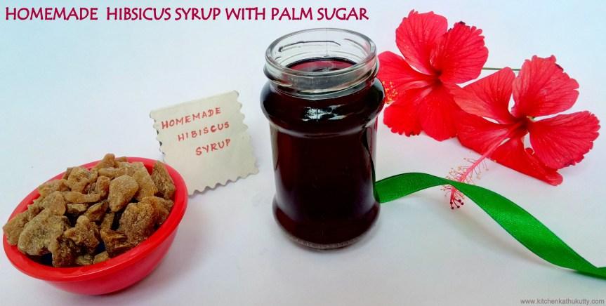 Hibiscus Syrup Recipe|Hibiscus Sharbat|Chembaruthi Sherbert