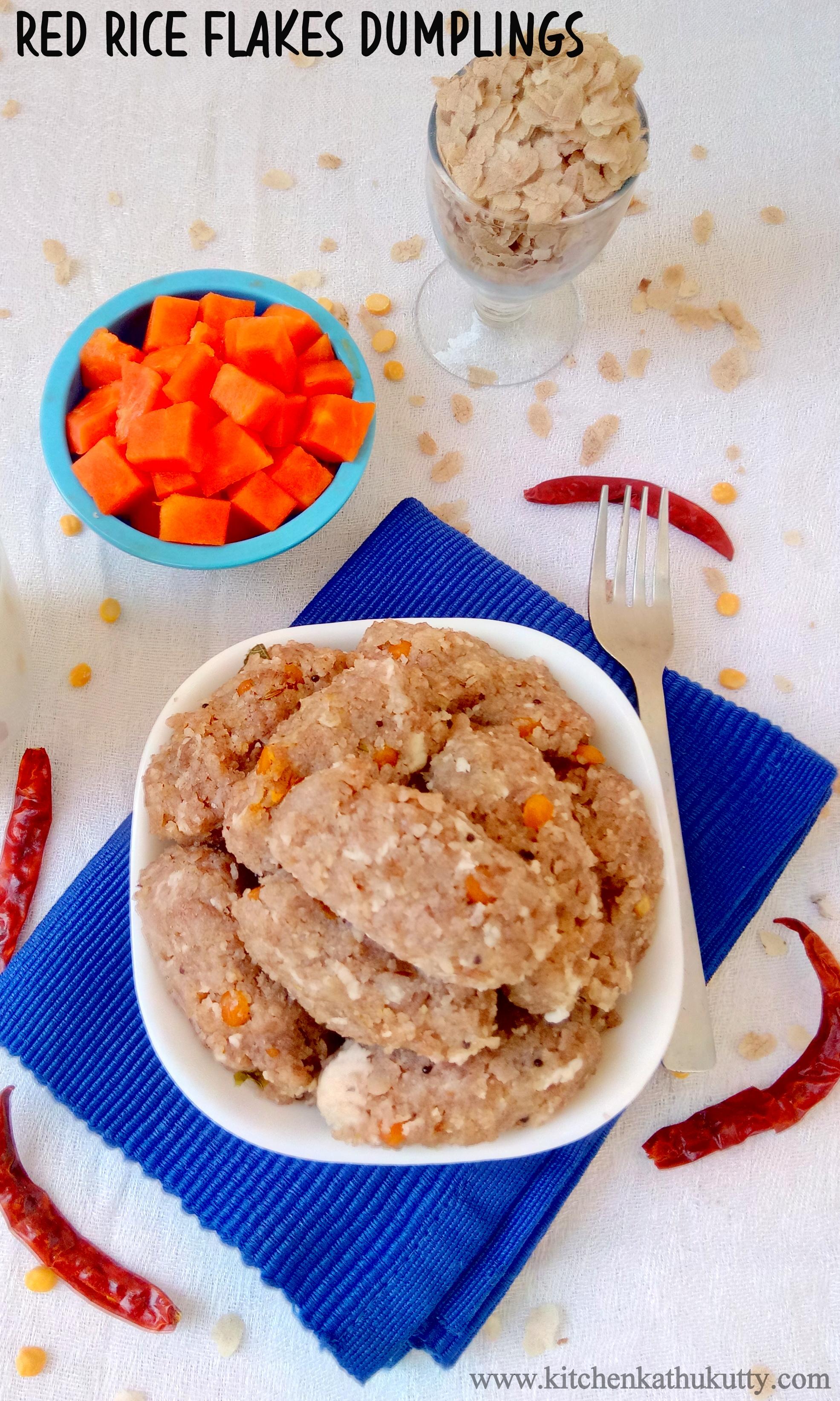 Red Aval Kozhukkattai|Poha Dumplings