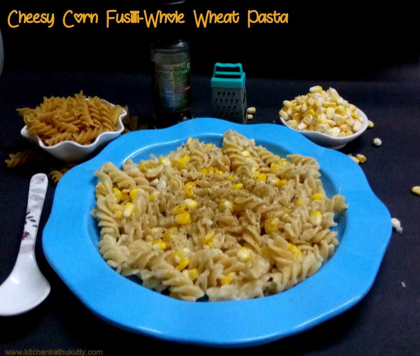 Cheesy Corn Fusilli-Whole Wheat Pasta