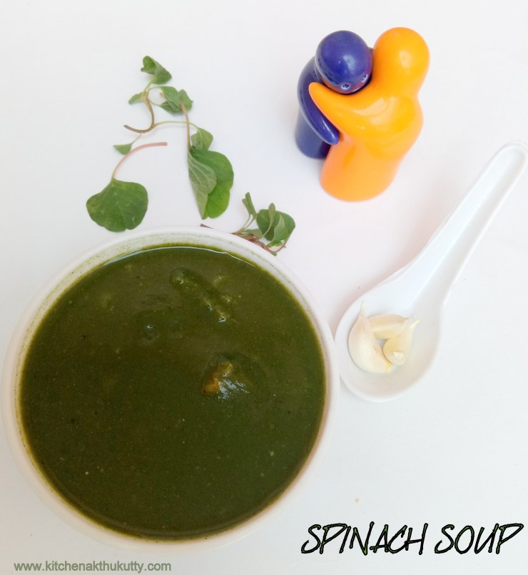 Spinach Soup For Babies,Toddlers and Kids