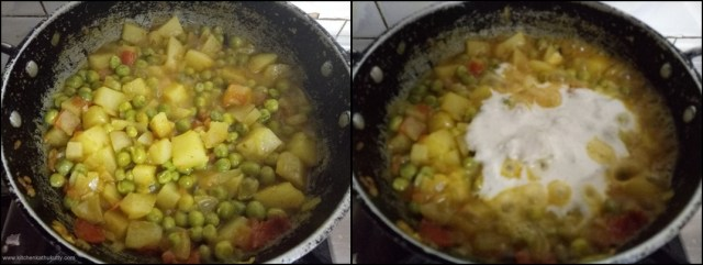 Potato Peas Kurma Recipe|Aloo Matar Kurma Recipe