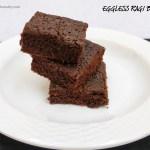 Eggless Ragi Brownie