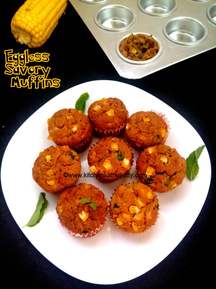 Eggless Savory Muffins Recipe