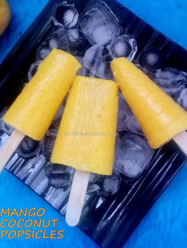 2 ingredient mango coconut popsicle