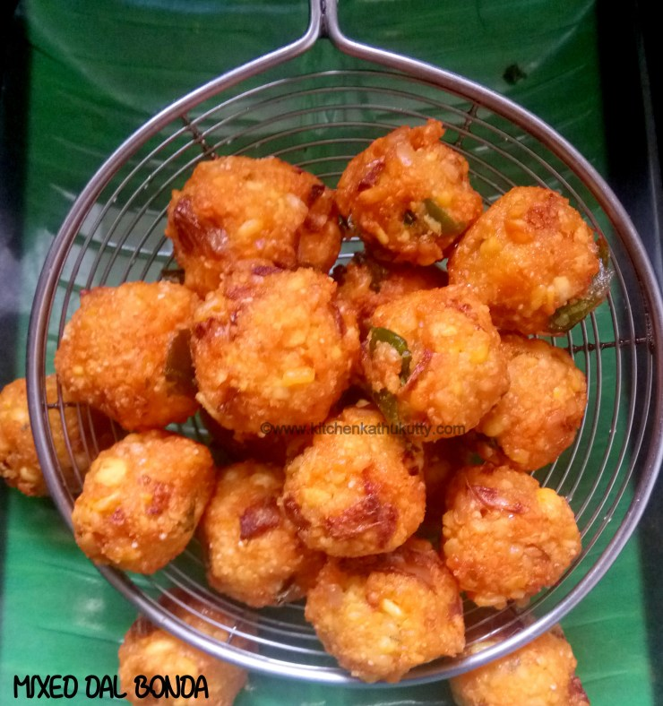 mixed dal mini bonda recipe
