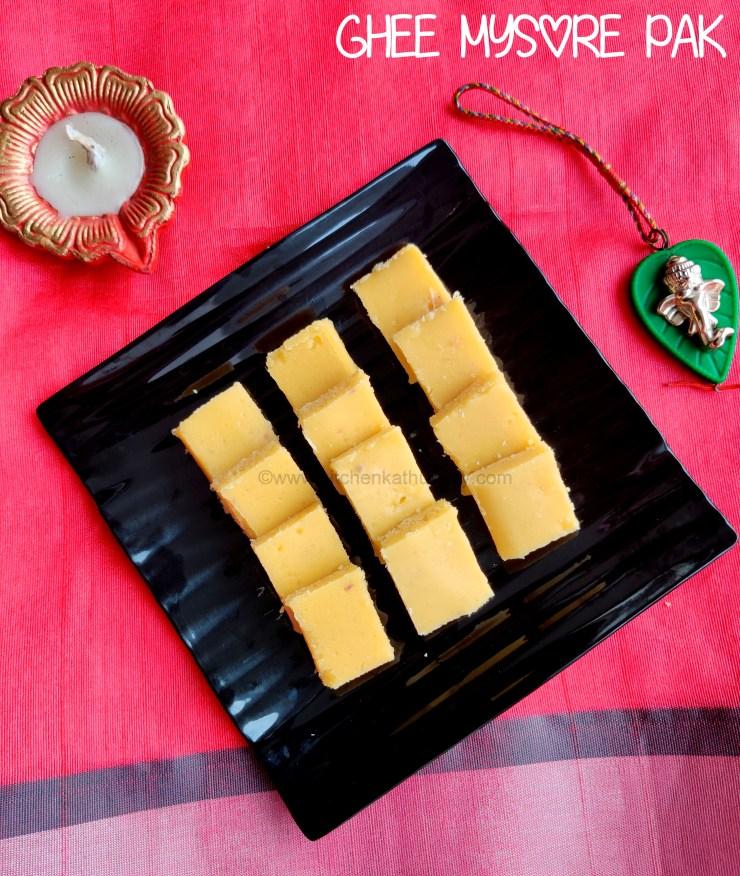 ghee mysore pak recipe