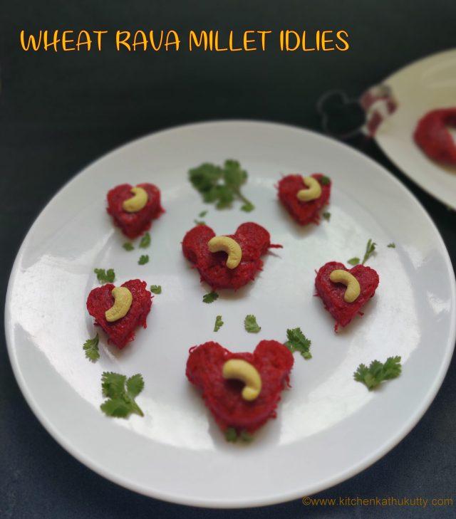 Wheat Rava Idly Recipe