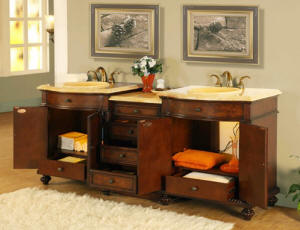 84 inch barlow vanity honey onyx