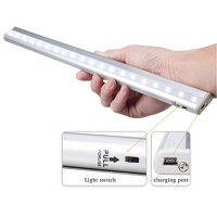 KEDSUM Rechargeable Stick-on Anywhere 20-LED USB Charging Wireless Motion Sensing Closet Cabinet LED Night Light / Stairs Light with Magnetic Strip
