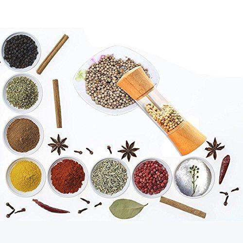 ❤Ywoow❤  Manual Pepper Grinder Pepper Spice Salt Mill Shaker Grinder Manual Muller Kitchen Tool Wooden