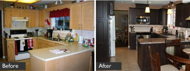 Before/after kitchen refacing