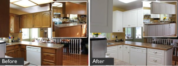 Kitchen Refacing in Lanlgey
