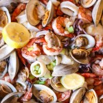 Seafood Salad With Garlic And Oil