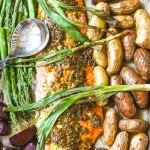 Roasted Salmon Sheet Pan Dinner