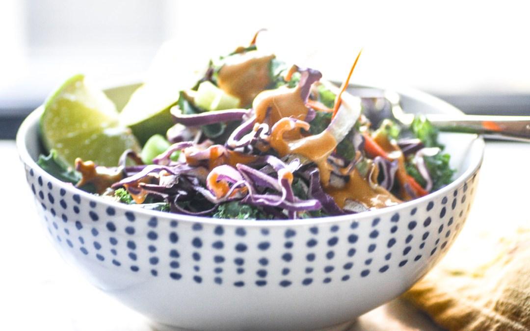 Thai Salad With Spicy Peanut Dressing