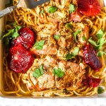 Blood Orange Salmon With Turnip Noodles