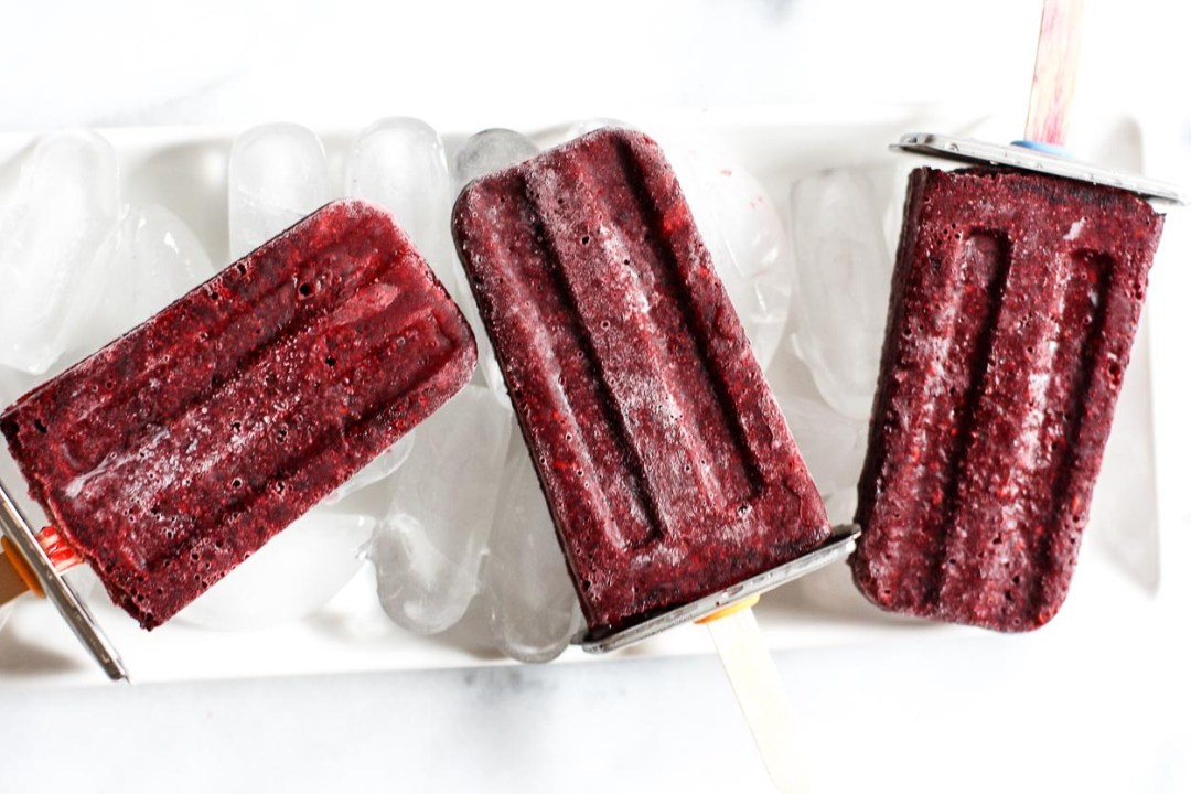 blackberry kombucha ice pops