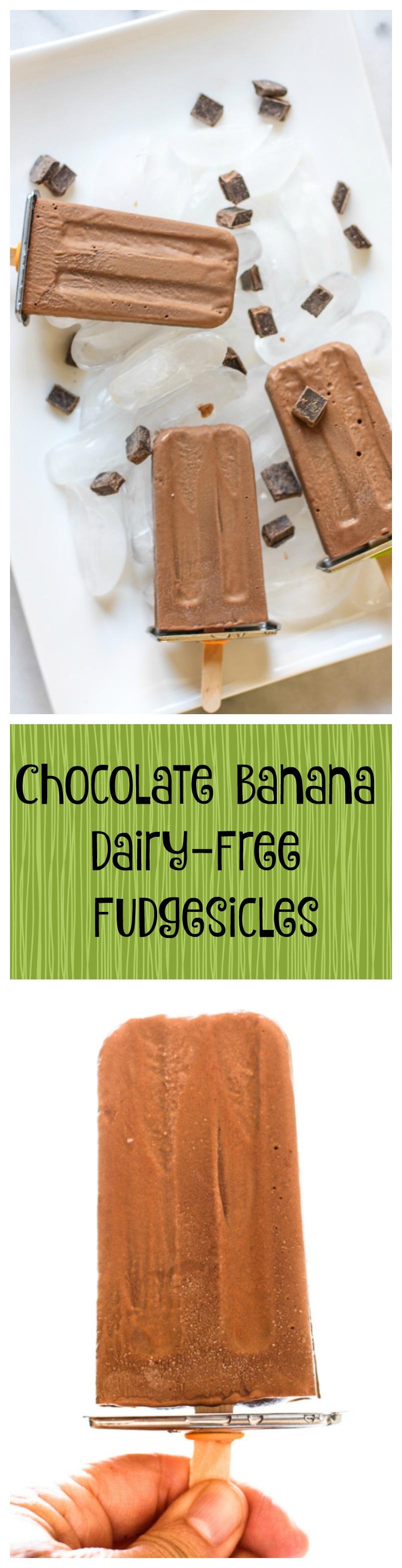 chocolate banana dairy-free fudgesicles