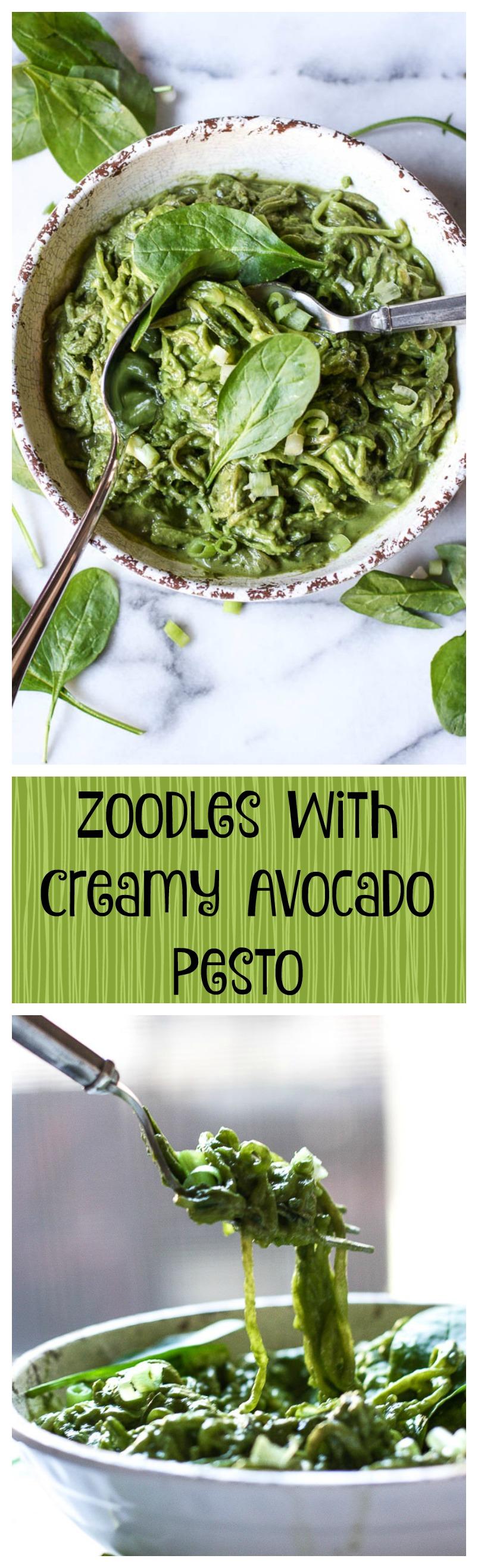 zoodles with creamy avocado pesto