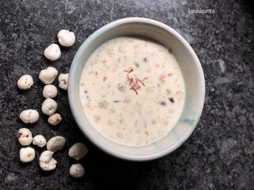 A bowl of lotus seed kheer