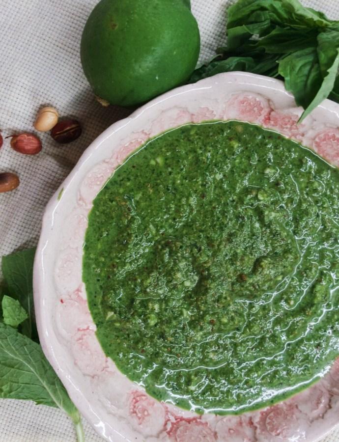 Spinach Peanut Pesto