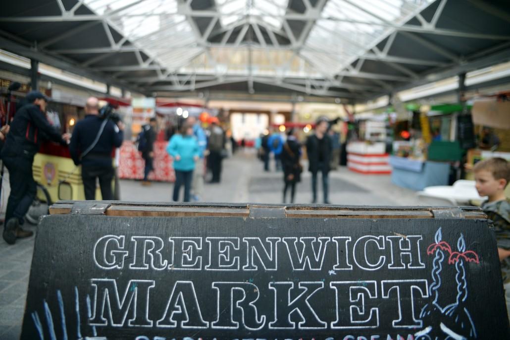 Greenwich Market Cookbook - blackboard
